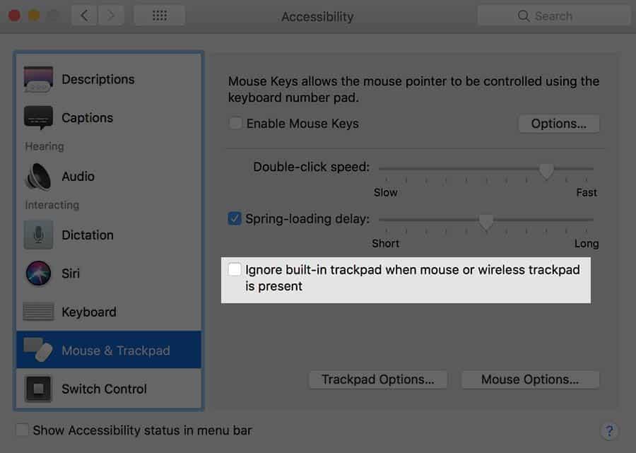 macbook trackpad switch
