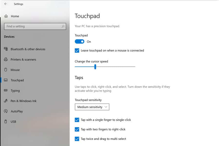 touchpad-search
