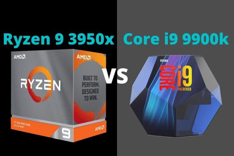 3950x vs 9900k