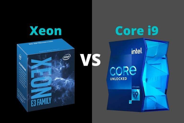Intel Xeon vs i9