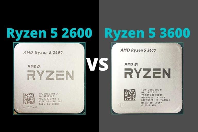 Ryzen 5 2600 vs Ryzen 5 3600