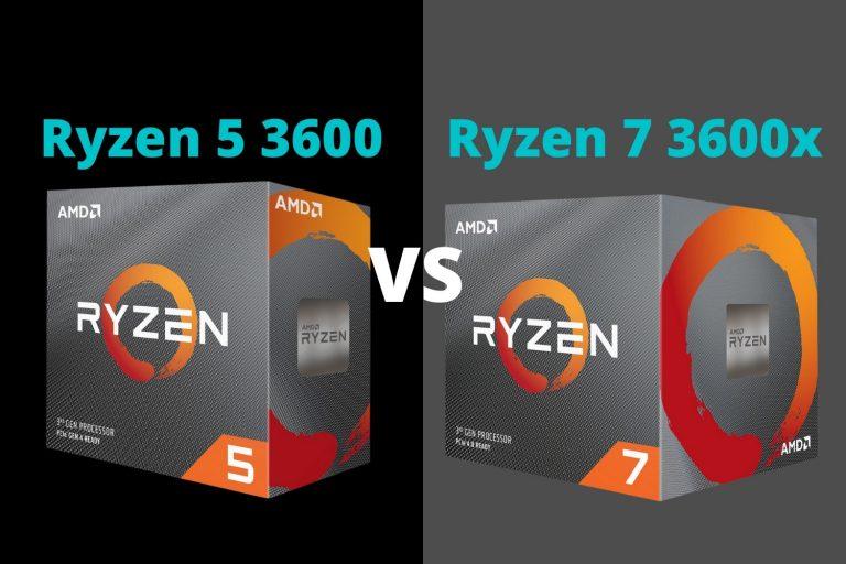 Ryzen 5 3600 vs Ryzen 7 3700x