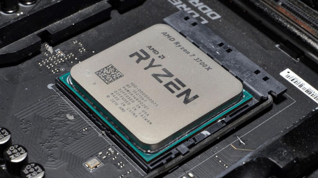 Ryzen 7 3700x installed on a motherboard