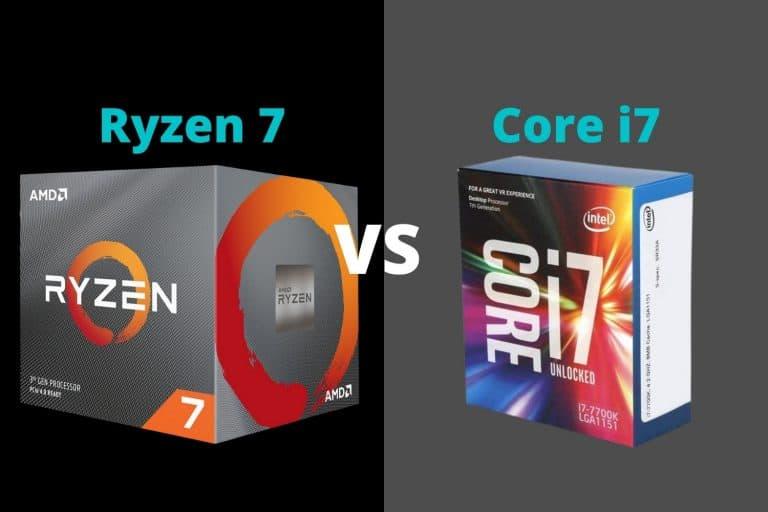 Ryzen 7 vs i7
