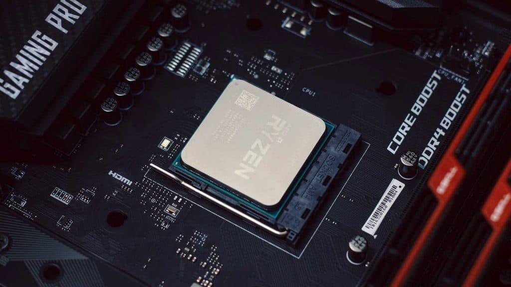 AMD Ryzen 3600 on motherboard