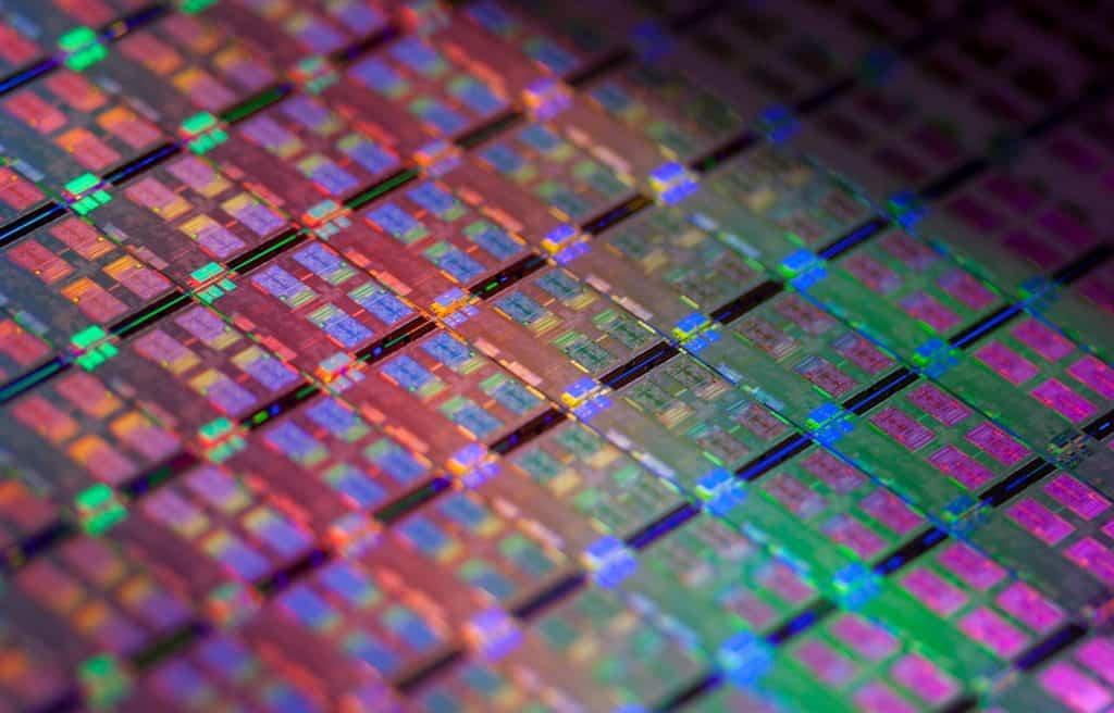 A close view of CPU transistors