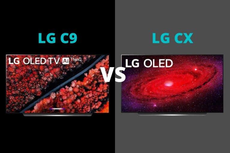 LG C9 vs CX