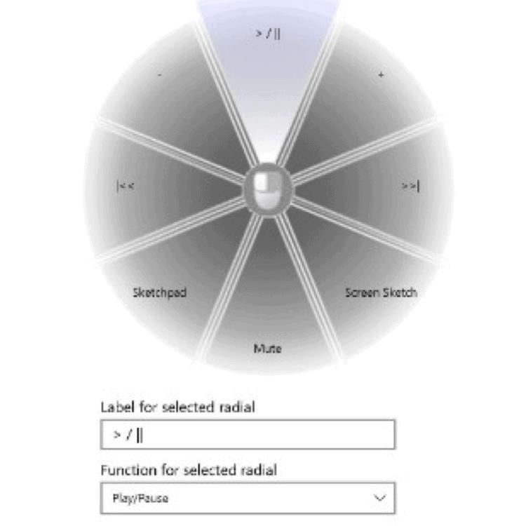 Lenovo Pen Radial Menu