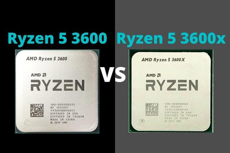 Ryzen 5 3600 vs Ryzen 5 3600x