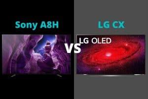 Sony A8H vs LG CX