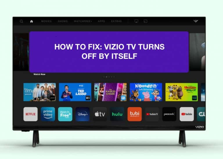 VIZIO TV turns off by itself