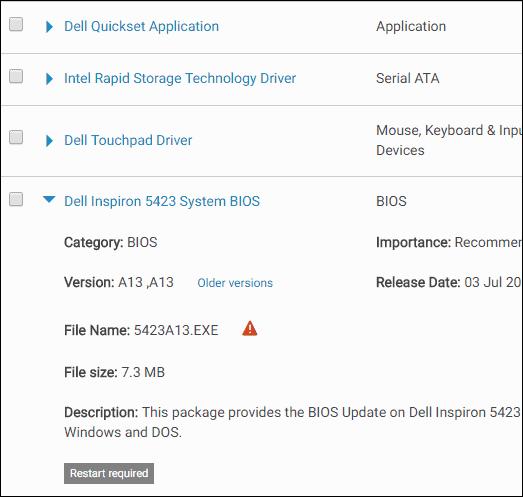 Windows - msinfo32 - bios version