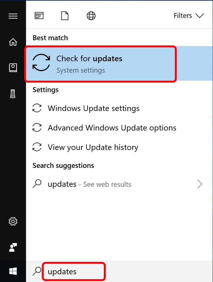 windows check for updates