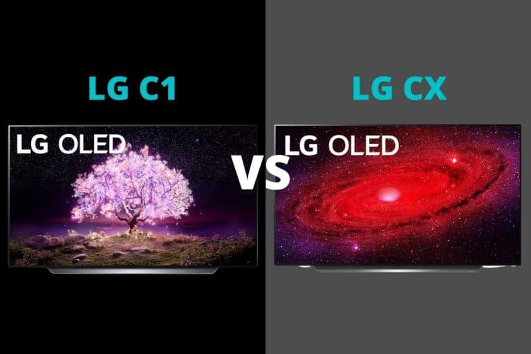LG C1 vs CX